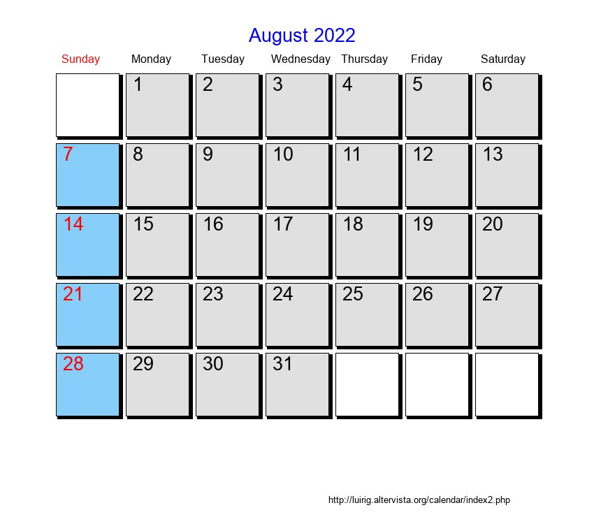 Calendar 2026 to print and download in PDF | abc-calendar.co.uk
