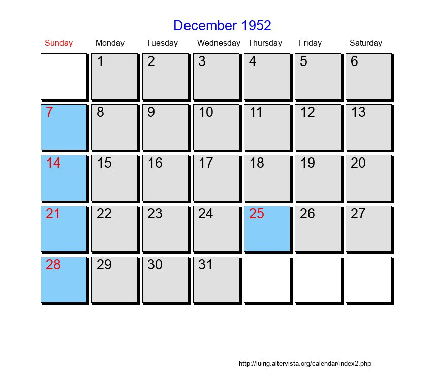 October 1951 - Roman Catholic Saints Calendar  |Calendar Oct 1952