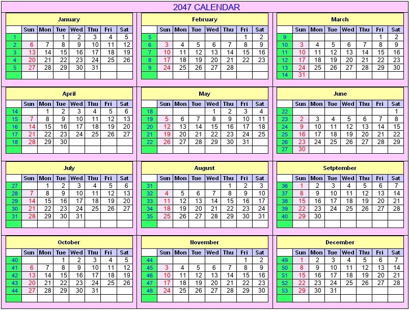 December 2047 - Roman Catholic Saints Calendar