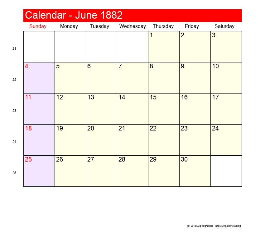 june 1882 roman catholic saints calendar