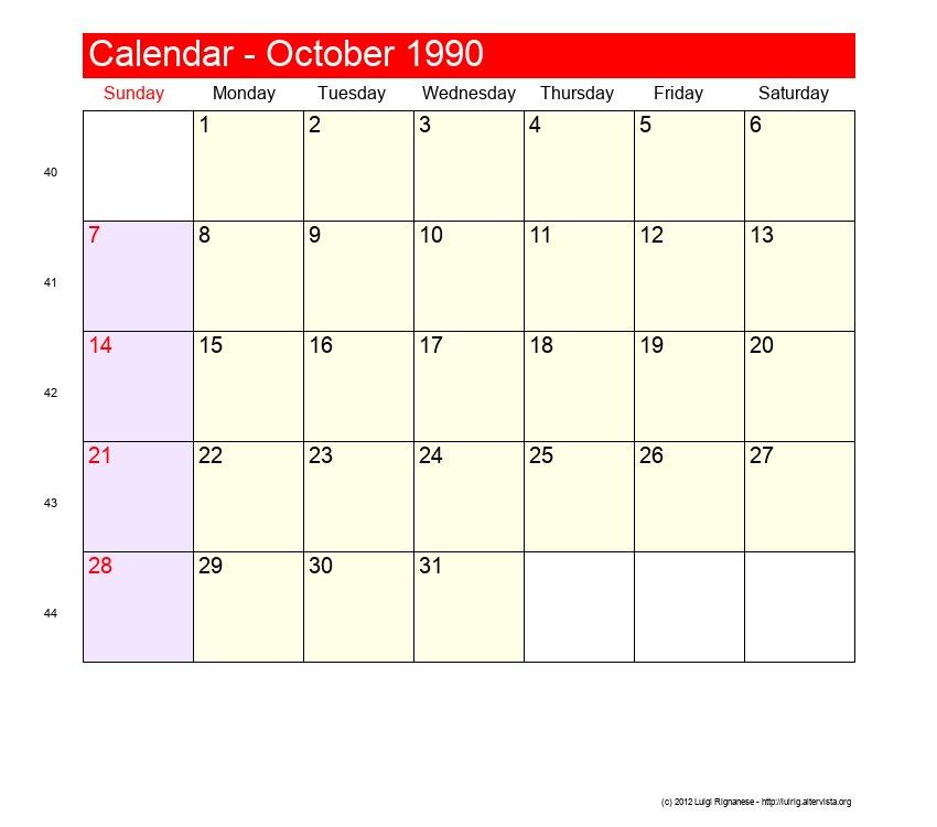 Calener October: Roman Catholic Saints Calendar