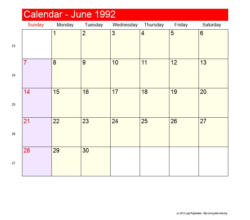 Calendar June December : June roman catholic saints calendar