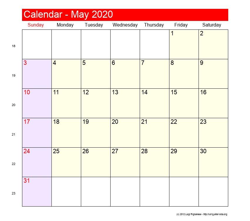 May 2020 - Roman Catholic Saints Calendar