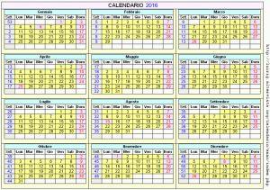 Calendario stampabile - 2016