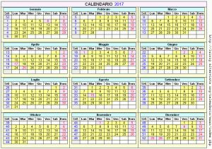 Calendario stampabile - 2017