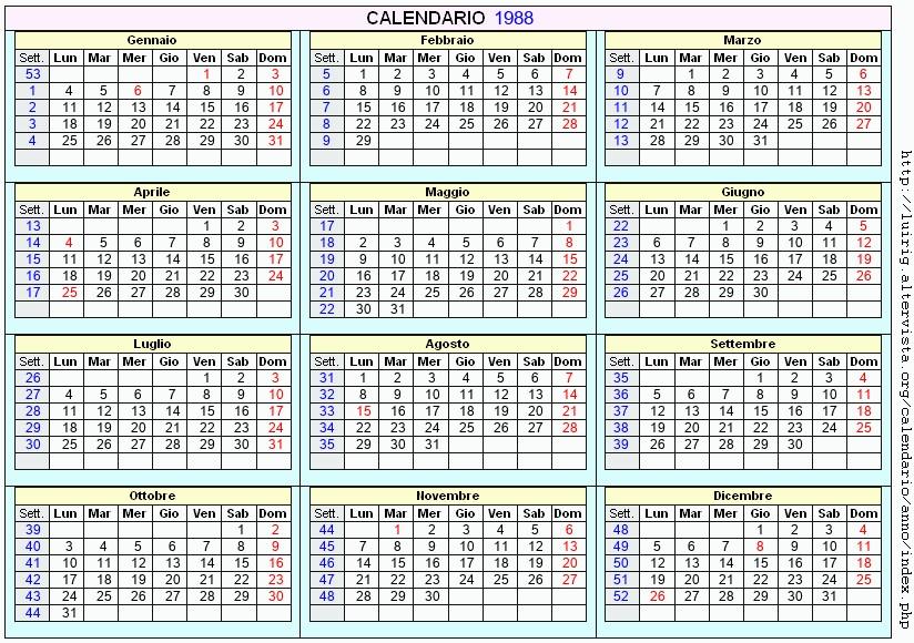Calendario Lunare 1988.Calendario 1988 Aprile Ikbenalles