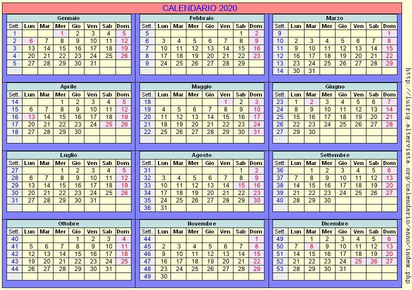 Calendario Pastorale 2020.Calendario Liturgico 2020 Pdf Calendario 2020