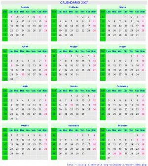 Calendario Settembre 2007.Calendario Settembre 2007 Con Santi E Fasi Lunari