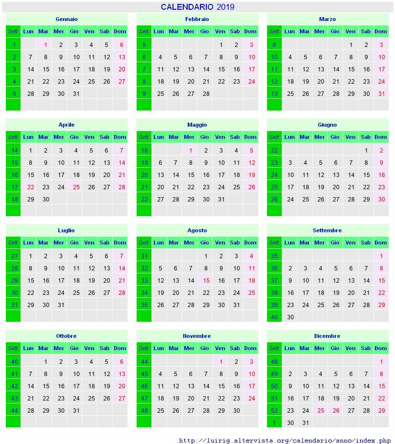Calendario Agosto 2019 Con Santi E Fasi Lunari Assunzione Maria