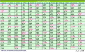 Calendario stampabile - 2014