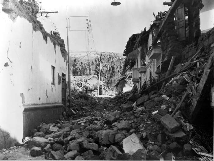 254278 peru earthquake may 31 1970 destruction of adobe houses in