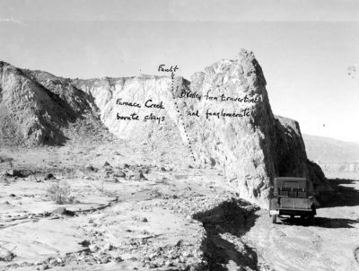 Death Valley National Park, California. Funeral Fanglomerate ...