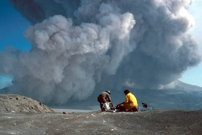 Time lapse of August 7, 1980, eruption of Mount St. Helens. G