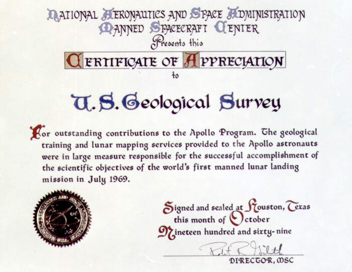 certificate with nasa - photo #7
