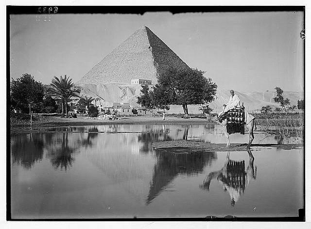 Egypt Pyramids by Nile River